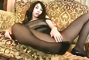 Asian;Nylon;Small Tits;Pantyhose;Black Pantyhose;Black Black pantyhose...