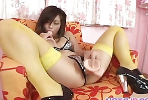 Asian;Japanese;Sex Toys;Stockings;Sex with Toys;All Japanese Pass Lemon Momosaki...