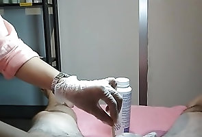Asian;POV;CFNM;Homemade Boyzilian Wax part 2