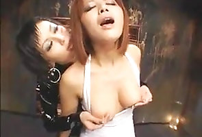 girl-on-girl;femdom;nipple-play,Lesbian;Japanese Lezdom Nipple-play