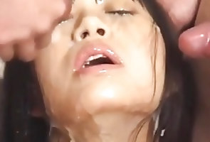 Uncensored;Asian;Japanese;Cum in Mouth;Cum Swallowing ppp 029 bukkake +...