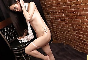 Asian;Babe;Brunette;Striptease;Sexy Model;Wrapped;HD Videos Wrapped
