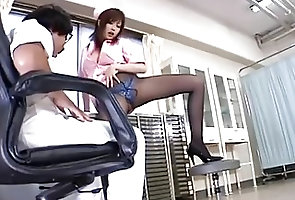 Asian;Blowjobs;Japanese;Medical;Cum in Mouth;Clinic RIO HAMASAKI...