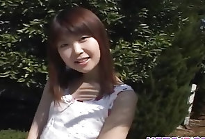 Asian;Japanese;Outdoor;Teens;Solo;Undresses;All Japanese Pass Momoko undresses...